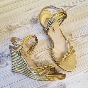 Michael kors Palm Beach Metallic Wedge Sandals